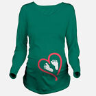 Tops Blouses - Ladies Maternity Long Sleeve Baby Foot Printed TShirt Pregnant Clothes Tops