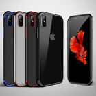 LUXURY Soft TPU IPhone X Cover Case Ultra Thin Transparent Plating Shiny Glossy
