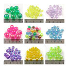 ROUND AB ACRYLIC BEADS *9 SIZES* *43 COLOURS* BEADING JEWELLERY MAKING CRAFTS