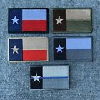 US TEXAS SUBDUED COLOUR & DESERT THIN BLUE LINE VELCRO® BRAND FLAG PATCH,LONE