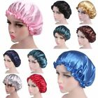 Night Sleep Cap Hair Bonnet Hat Head Cover Wide Band Waterproof Elastic