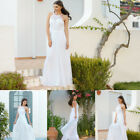 Ever-Pretty Long Chiffon Lace Evening Formal Party Prom Bridesmaid White 08982