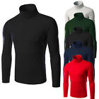 Men Thermal High Collar Turtle Neck Skivvy Long Sleeve Sweater Stretch Shirts US