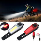 200LM LED Rear Bike Light Taillight Safety Warning USB Rechargeable Bicycle Lamp