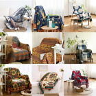 Cotton Jacquard Sofa Bed Throw Blanket Bedspread Settee Cover Textiles 8 Colors