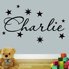 Personalised Wall Art Boy, Girl Sticker Quote Decal Children's Bedroom Stars
