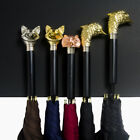 Creative Metal Animal Heads Handle Large Windproof Golf High Quality Umbrellas