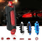 Bike USB Rechargeable Bicycle Cycling Front Rear Tail Warning Safety Light Lamp