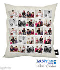 PERSONALISED PHOTO COLLAGE GIFT CUSHION PHOTOMONTAGE VARIOUS COLOURS