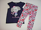NWT Gymboree EIFFEL FLOWERS Sz 2T 3T or 5T Dog Tee  Floral Leggings NEW