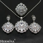 HERMOSA Natural White Topaz Sets 925 Sterling Silver Necklac