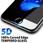 For Apple iPhone 7 8 Plus - 5D Full Cover Curved Tempered Glass Screen Protector