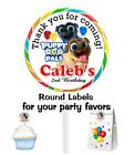 PUPPY DOG PALS BIRTHDAY PARTY FAVORS STICKERS  for lollipops  goody bags