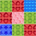 Wilton Mini 6 Cavity Flower Heart Star Silicone Mold Perfect For Parties