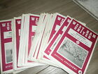 WEST HAM UNITED HOME PROGRAMMES 1963 - 5 INC LEAGUE CUP AND TESTIMONIALS