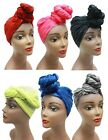 Two-Tone Head Wrap Scarf - African Scarf Hair Ties - Long Stretchy Length Sizing