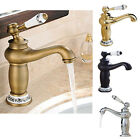 Fuloon Vintage Kitchen Faucet Taps Bathroom Antique Finish Brass Single Sink Tap