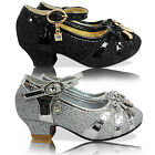 NEW GIRLS CHILDRENS KIDS LOW HEEL MARY JANE STRAP SHOES PUMPS SANDALS PARTY SIZE