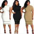 Women Plus Size Evening Party Cocktail Midi Dress Loose Sleeveless Beach Dresses