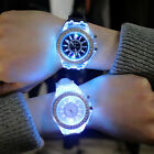 Fashion Women Geneva LED Backlight Crystal Quartz Wrist Watch Sport Waterproof image