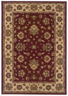 Red Traditional - Persian/Oriental Flowers Scrolls Area Rug Bordered 623V3