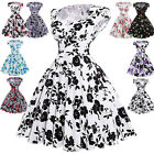 60s Vintage Retro Swing Pinup Housewife Dance Tea Party Evening A-Line Dress New