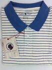 Southern Proper Pocket Polo Shirt Mens White Blue and Yellow Stripe NEW NWT
