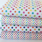 Rainbow Dot polycotton fabric 2 colours, 112cm wide sold per metre