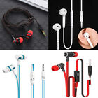 3.5mm Stereo In-Ear bass Earbud Earphone Headset with Mic for iphone Samsung QE