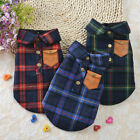 England Double Layer Shirt Autumn Winter Small Dog Clothes Puppy Cats Clothes