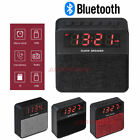 T1 Wireless Bluetooth Stereo Speaker LED Alarm Clock FM Radio MicroSD MP3 Player