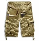 Men Sport Camo Cargo Shorts Military Combat Work Pants Multi-Pocket Size 29-36