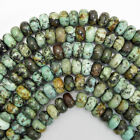 """African Turquoise Rondelle Beads 15.5"""" Strand 3x4mm 4x6mm 5x8mm 6x10mm 8x12mm"""