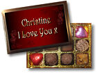 PERSONALISED BOX LUXURY BELGIAN CHOCOLATES BEAUTIFUL GIFT FOR ALL OCCASIONS