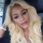 Lace front wig human hair blonde remy brazilian body wave pre plucked baby hair