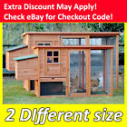 Chicken Coop Rabbit Hutch Wooden Chook House Guinea Pig Ferret Cage w/Tray