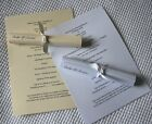 10 Personalised Order Of Service Wedding Scrolls with Ribbon White or Ivory