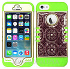 For Apple iPhone 5/5s/SE - KoolKase Hybrid Silicone Cover Case - Crystal Tribal
