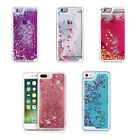 Liquid Glitter Water Bling Sparkly Stars Cover Case For Iphone 4 5 6 7 8 Plus X