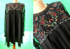 ZARA PLUMETIS KLEID BOHO STICKEREI EMBROIDERED DRESS BESTICKT BLUMEN FLORAL