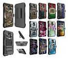 LG Stylo 3 LS777 Dual Layer Heavy Duty KickStand Hybrid Holster Cover Case 2