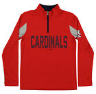 Outerstuff MLB Youth St. Louis Cardinals 1/4 Zip Long Sleeve Top, Red