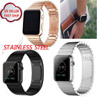 38/42mm For Apple Watch Band Butterfly Stainless Steel Replacement Wrist Strap