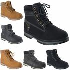 WOMENS LADIES FLEECE COLLAR LACE UP WORK BIKER COMBAT DESERT ANKLE BOOTS SIZE