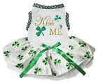 Kiss Me Clover White Cotton Top Clover Tutu Pet Dog Puppy Dress