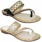 JLH910 Aisha Faux Leather Gemstone Padded Insole Cross Strap Mule Sandals