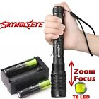 Zoomable 50000Lumens 5-Mode High Power T6 LED Flashlight Torch 18650 Charger USA