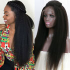 lace front wigs for black hair - Glueless Lace Front Human Hair Wigs Long Yaki Straight 100% Remy Black for Women
