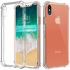 Shockproof Hard Silicone TPU Protective Clear Case Cover iPhone 5s X 8 7 6s plus