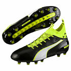 Puma Men's EvoTouch 1 FG Soccer Cleats (Black/Safety Yellow) 103672-01*